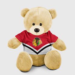 Игрушка-медвежонок NHL: Chicago Blackhawks цвета 3D-желтый — фото 1