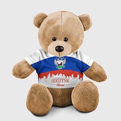 Игрушка-медвежонок Irkutsk: Russia цвета 3D-коричневый — фото 1