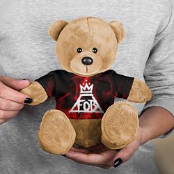Игрушка-медвежонок Fall Out Boy: Red Flame цвета 3D-коричневый — фото 2