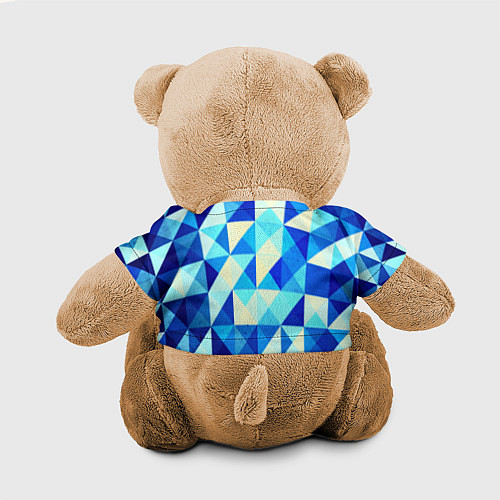 Игрушка-мишка Синяя геометрия / 3D-Коричневый – фото 2