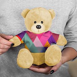 Игрушка-медвежонок Разноцветные полигоны цвета 3D-желтый — фото 2