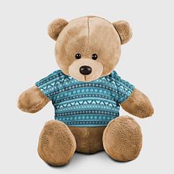 Игрушка-медвежонок Винтажный орнамент цвета 3D-коричневый — фото 1