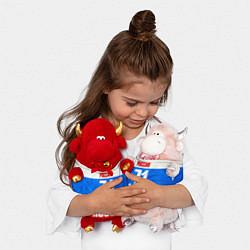Игрушка-бычок Russia: from 71 цвета 3D-красный — фото 2