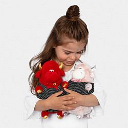Игрушка-бычок Руны цвета 3D-красный — фото 2
