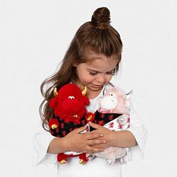 Игрушка-бычок Лев герба Нидерландов цвета 3D-красный — фото 2