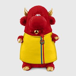 Игрушка-бычок Молдавия: лента с гербом цвета 3D-красный — фото 1