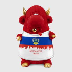 Игрушка-бычок Murmansk: Russia цвета 3D-красный — фото 1