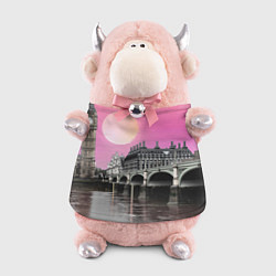 Игрушка-бычок Закат в Великобритании цвета 3D-светло-розовый — фото 1