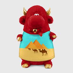 Игрушка-бычок Пирамиды Египта цвета 3D-красный — фото 1