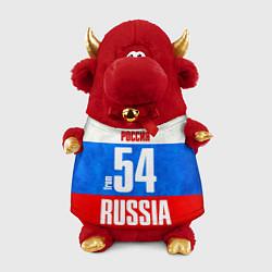 Игрушка-бычок Russia: from 54 цвета 3D-красный — фото 1