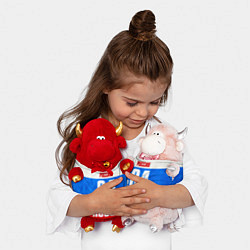 Игрушка-бычок Russia: from 64 цвета 3D-красный — фото 2