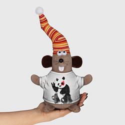 Игрушка-мышка Рок-панда цвета 3D-серый — фото 1