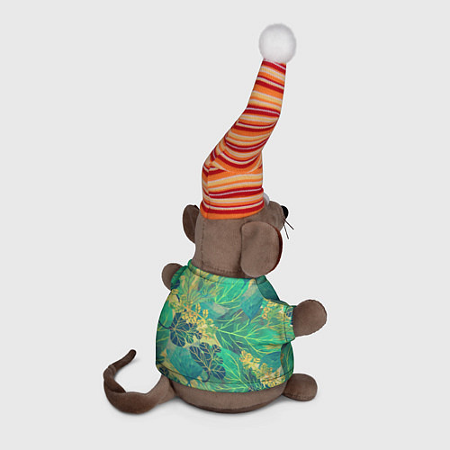 Игрушка-мышка Узор из листьев / 3D-Серый – фото 2