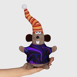 Игрушка-мышка Цветные разводы цвета 3D-серый — фото 1