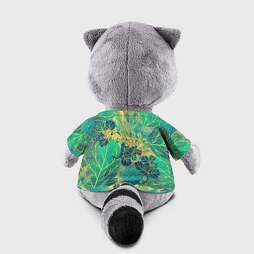 Игрушка-енот Узор из листьев / 3D-Серый – фото 2