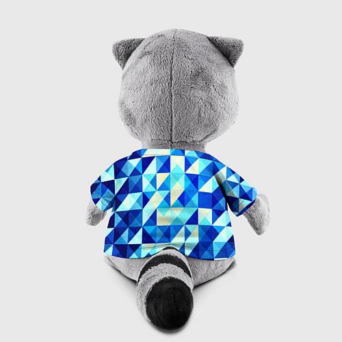 Игрушка-енот Синяя геометрия / 3D-Серый – фото 2