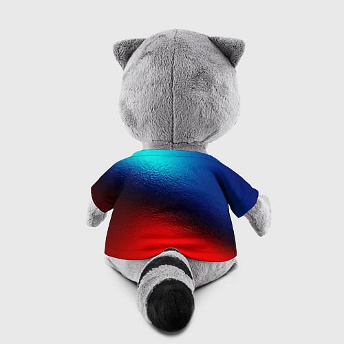 Игрушка-енот Синий и красный / 3D-Серый – фото 2