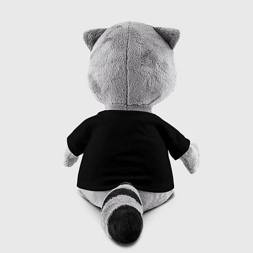 Игрушка-енот Есенин Ч/Б / 3D-Серый – фото 2