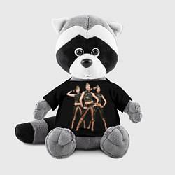 Игрушка-енот Армейские девушки цвета 3D-серый — фото 1