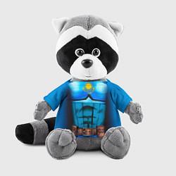 Игрушка-енот Капитан Казахстан цвета 3D-серый — фото 1