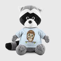 Игрушка-енот Сова пилот цвета 3D-серый — фото 1