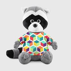 Игрушка-енот 3D кубы цвета 3D-серый — фото 1