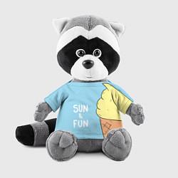 Игрушка-енот Sun & Fun цвета 3D-серый — фото 1