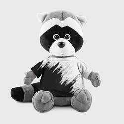 Игрушка-енот Черно-белый разрыв цвета 3D-серый — фото 1
