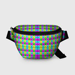 Поясная сумка Тестовый яркий цвета 3D-принт — фото 1