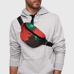 Поясная сумка Dolphin Pain цвета 3D-принт — фото 2