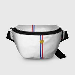 Поясная сумка Франция: лента с гербом цвета 3D-принт — фото 1