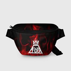 Поясная сумка Fall Out Boy: Red Flame цвета 3D-принт — фото 1