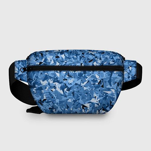 Поясная сумка Сине-бело-голубой лев / 3D – фото 2