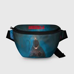 Поясная сумка Blue Godzilla цвета 3D-принт — фото 1