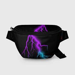 Поясная сумка МОЛНИЯ NEON цвета 3D-принт — фото 1