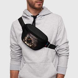 Поясная сумка Disturbed цвета 3D-принт — фото 2