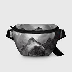 Поясная сумка Горы цвета 3D-принт — фото 1