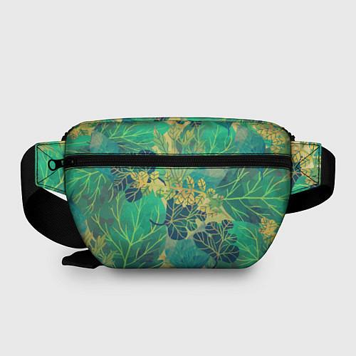 Поясная сумка Узор из листьев / 3D – фото 2