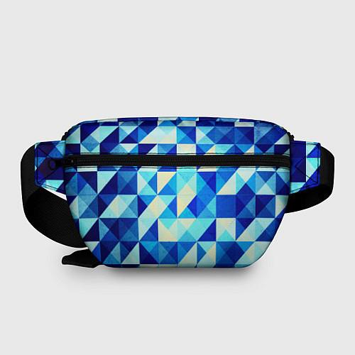 Поясная сумка Синяя геометрия / 3D – фото 2