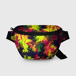 Поясная сумка Кислотный взрыв цвета 3D — фото 1