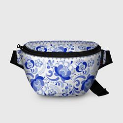 Поясная сумка Гжель 2 цвета 3D — фото 1