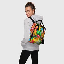 Рюкзак женский Сладкие конфетки цвета 3D — фото 2