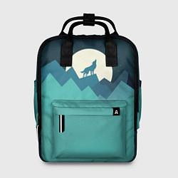 Рюкзак женский Воющий волк цвета 3D — фото 1