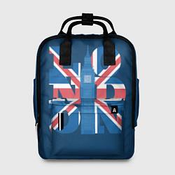 Рюкзак женский London: Great Britain цвета 3D-принт — фото 1