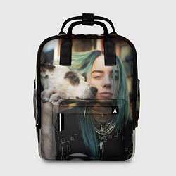 Женский городской рюкзак с принтом BILLIE EILISH, цвет: 3D, артикул: 10201688905839 — фото 1