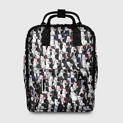 Рюкзак женский Черно-белые медведи цвета 3D — фото 1