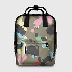 Рюкзак женский Камуфляж: микс цветов цвета 3D-принт — фото 1