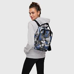 Рюкзак женский Зимний камуфляж цвета 3D-принт — фото 2