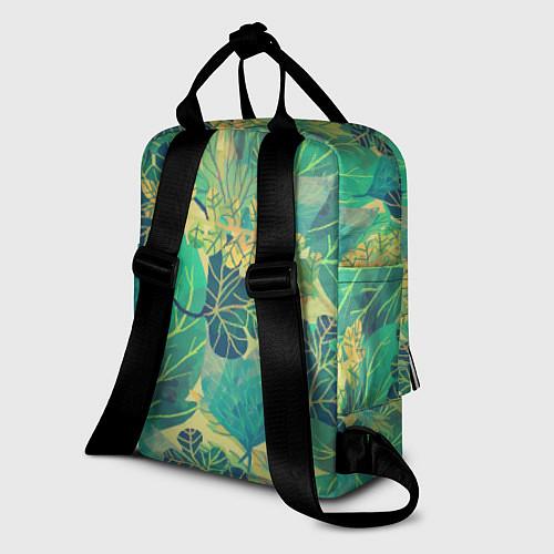 Женский рюкзак Узор из листьев / 3D – фото 2