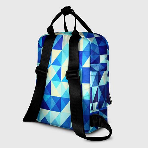 Женский рюкзак Синяя геометрия / 3D – фото 2